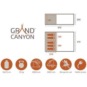 Grand Canyon Parks 5 Tiendas de campaña, beige